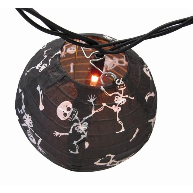 Bethany Lowe Skeleton Black Paper Lantern Party Halloween Lighting