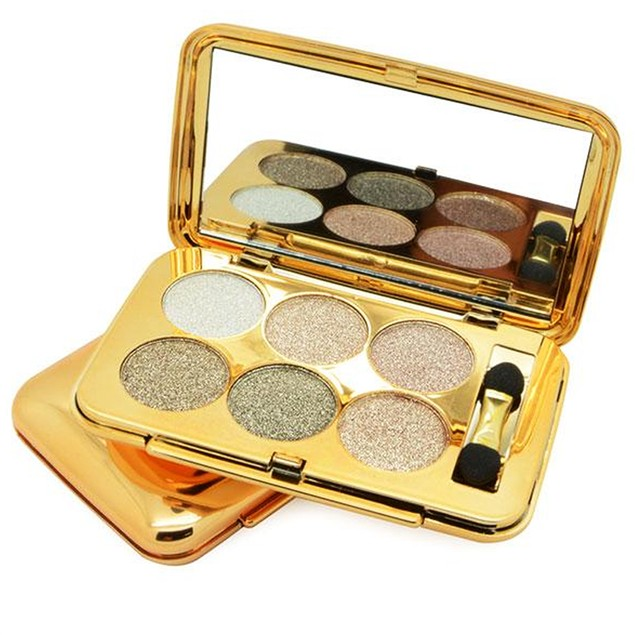 6 Color Crushed Shine Eyeshadow Palette