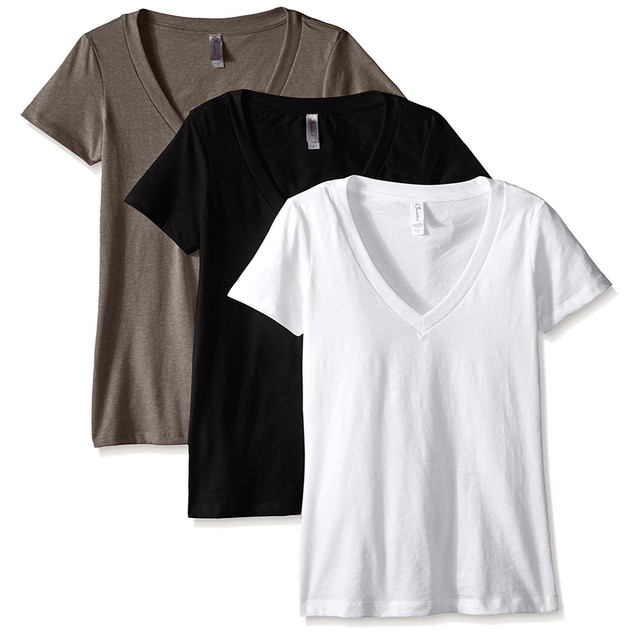 3-Pack Clementine Women's Deep V-Neck T-Shirt