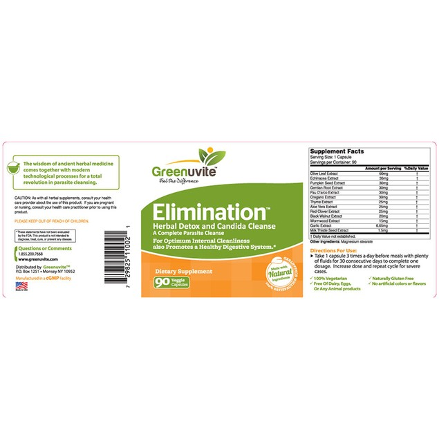 Elimination Extra strength Natural Laxative Support for Constipation, Bloat