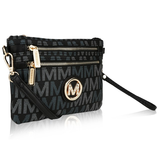 Helen Milan M Signature Crossbody Wristlet by Mia K. Farrow