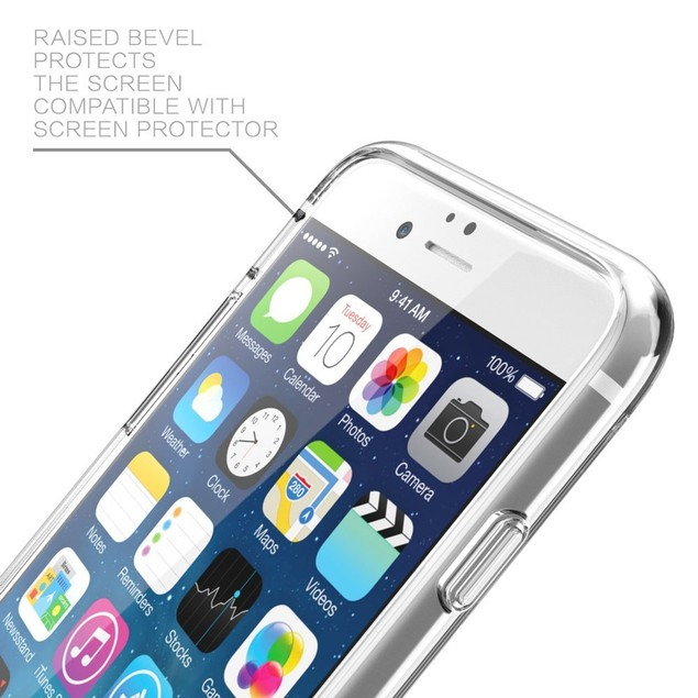 LAX Gadgets Clear Slim Case for iPhone 6s/6s Plus