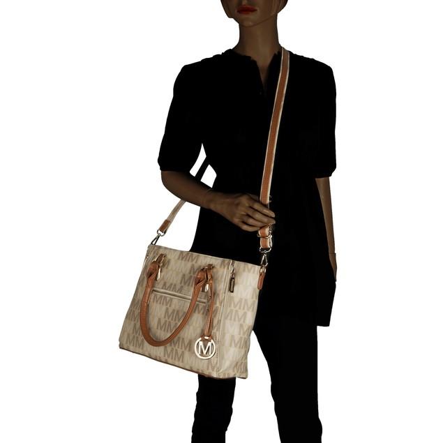 MKF Collection Siena M Signature Handbag by Mia K. Farrow