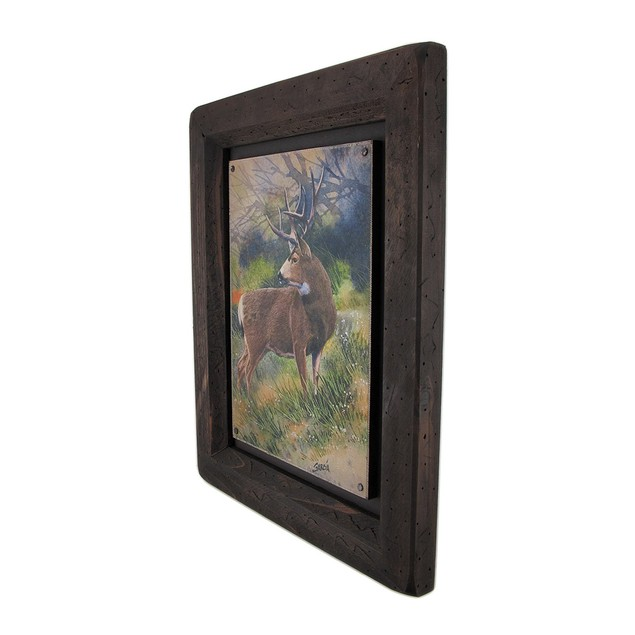 Big Sky Carvers Whitetail Deer Wood Frame Wall Art Prints