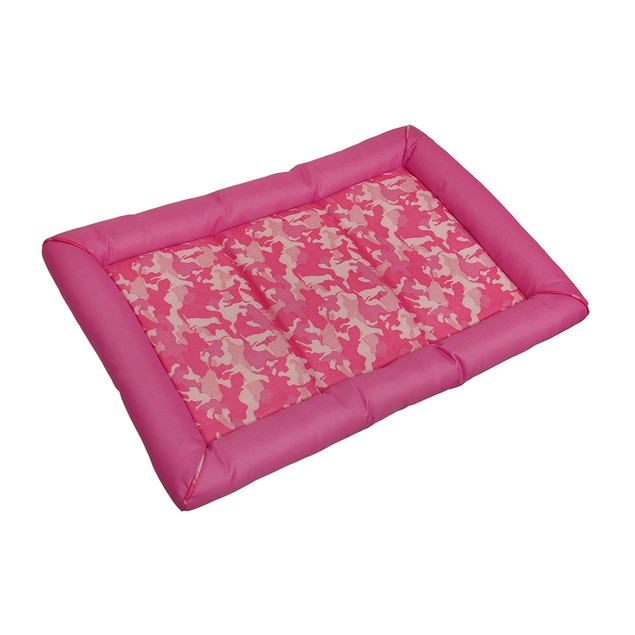 Snoozzy Durable Pink Canine Camouflage Dog Crate Pet Beds
