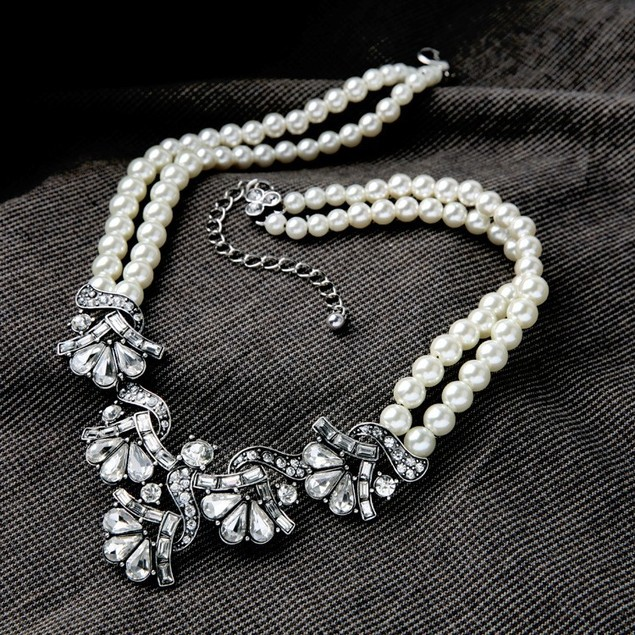 Sweet Romance Vintage Pearl Statement Necklace