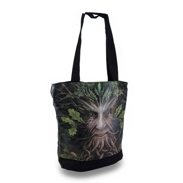 Anne Stokes Oak King Canvas And Vinyl Tote Bag Womens Tote Bags