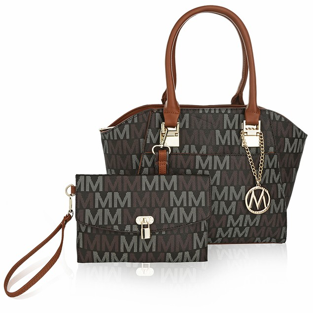 MKF Collection Dana M Signature Set Tote And Wristlet by Mia K Farrow