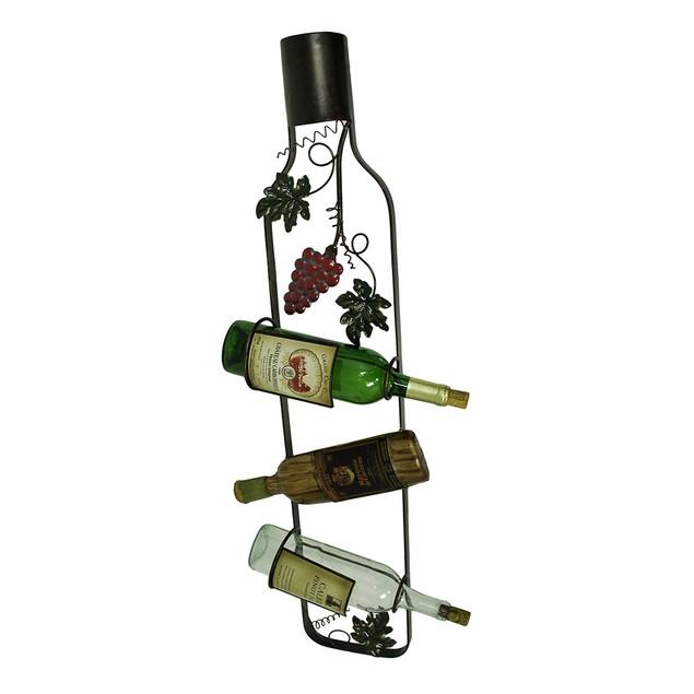 Wine Label 3 Slot Wall Mounted Wine Bottle Holder Wine Racks