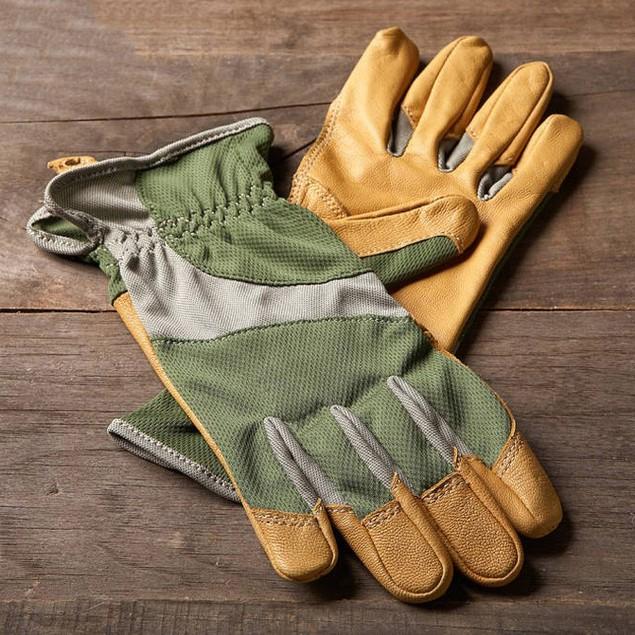 2 Pairs Ethel by Mechanix Wear Women's Bamboo & Leather Garden Glove