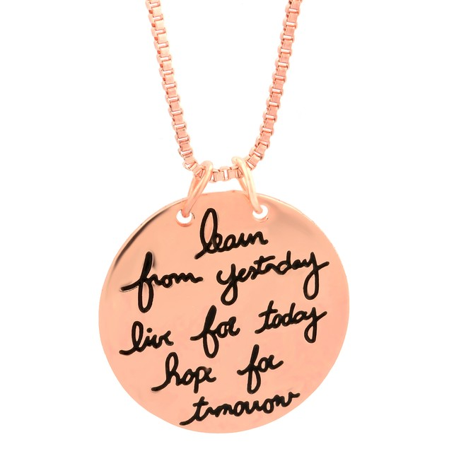 Gold Plated Inspirational Necklaces