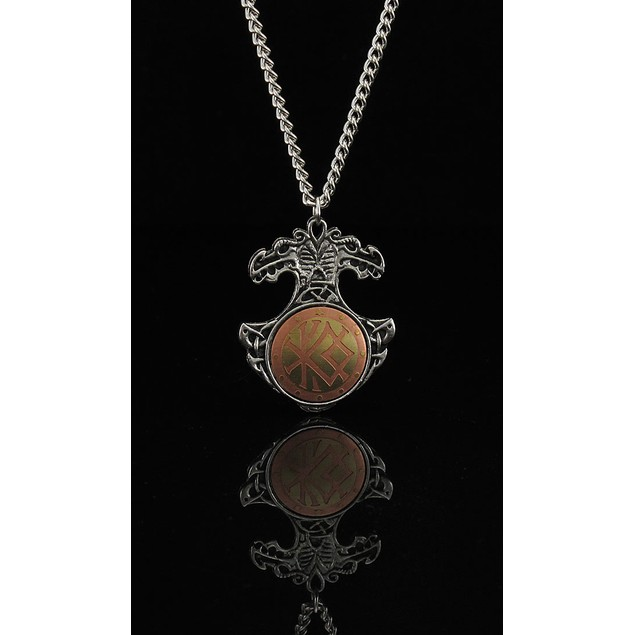 Viking Bind Rune Charm Necklace Talisman for Courage