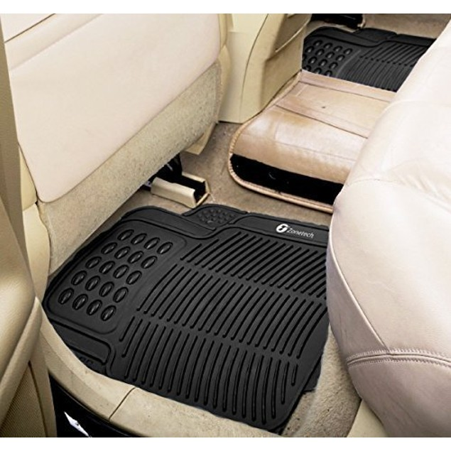 Zone Tech 4-Piece  Heavy Duty Universal Car Floor Rubber Mats