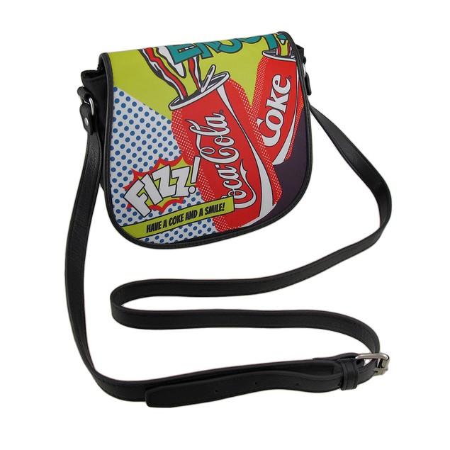 Coca Cola Colorful Pop Art Style Crossbody Purse Womens Cross Body Bags