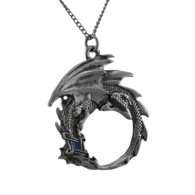 Ouroboros Pendant / Necklace For Renewal Mens Pendant Necklaces