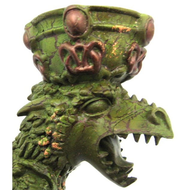 Green Lindorm Dragon Twin Taper Candle Holder Candleholders