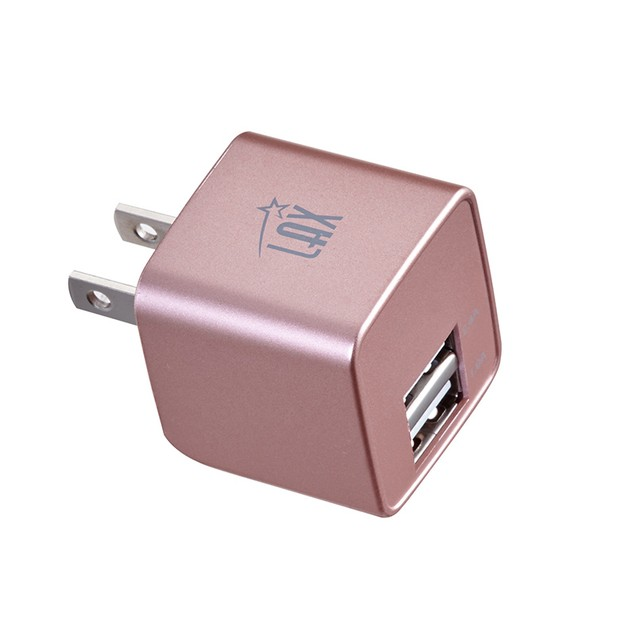 LAX Dual USB Fast Wall Charger with 6-Ft Braided Cable