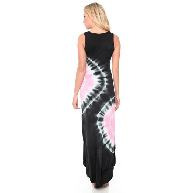White Mark Hi-Low 'Martina' Tie-Dye Dress