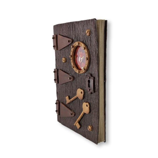 Steampunk Recycled Paper 90 Page Unlined Journal Art Sketchbooks And