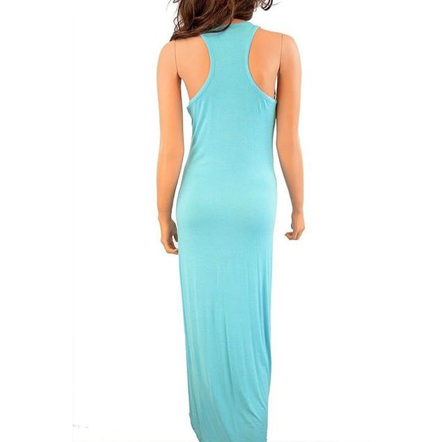 Sexy Racerback Slim-Fit Solid Maxi-Dress
