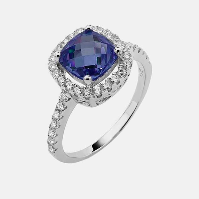 Sterling Silver Birthstone Ring - September