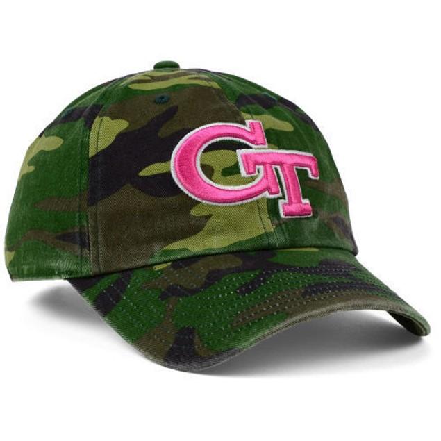 "GA Tech Yellow Jackets NCAA 47' Brand ""Fashion"" Clean Up Adjustable Hat"