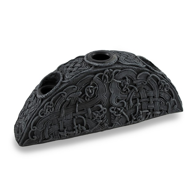 Gothic Endless Knot Design Triple Taper Candle Taper Holders