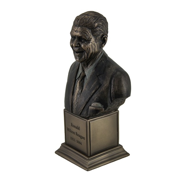 Ronald Wilson Reagan Bronze Finish Statue On Bust Sculptures