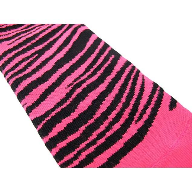 Women`S Ankle Socks Hot Pink And Black Zebra Womens Casual Socks