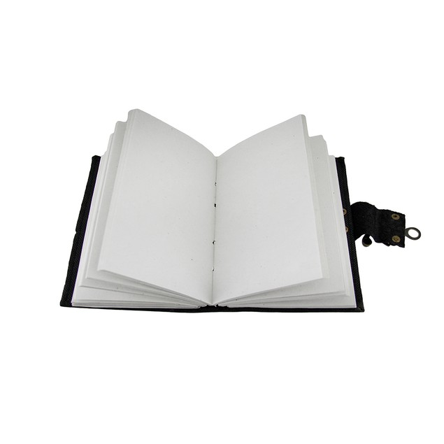 Black Python Embossed Leather Journal 5X7 In. Journal
