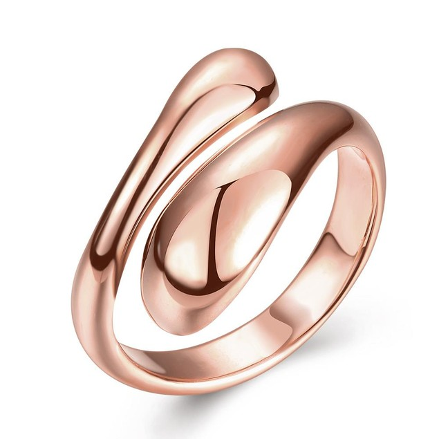 Rose Gold Plated Matrix Cut Ring