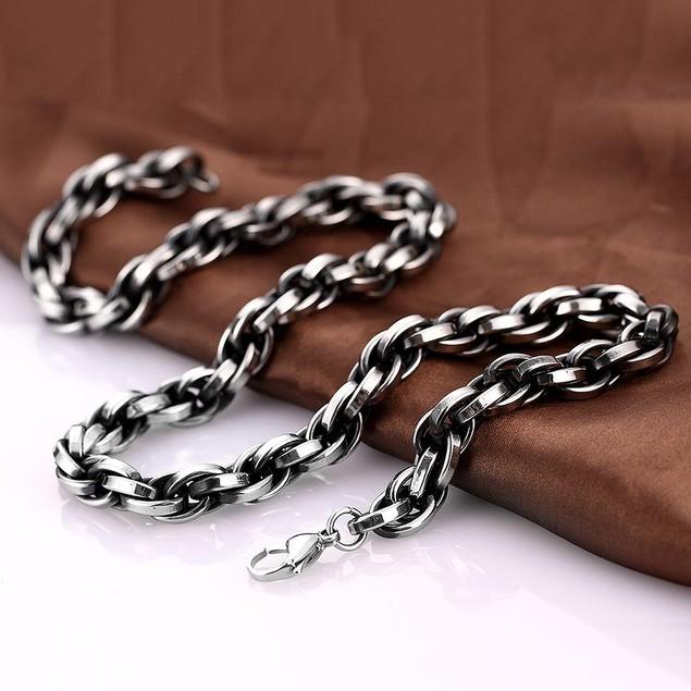 Alpha Steel Classic London Chain Stainless Steel Neckalce