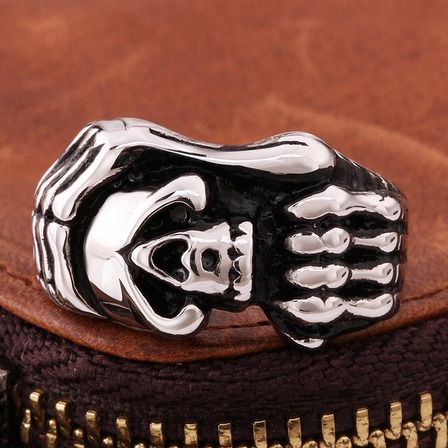 Stainless Steel Claw Embelm Ring