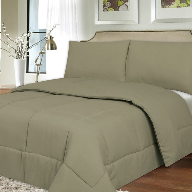Plush Down Alternative Reversible Comforter