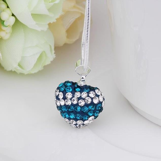 Multi-Tone Austrian Stone Heart Shaped Necklace