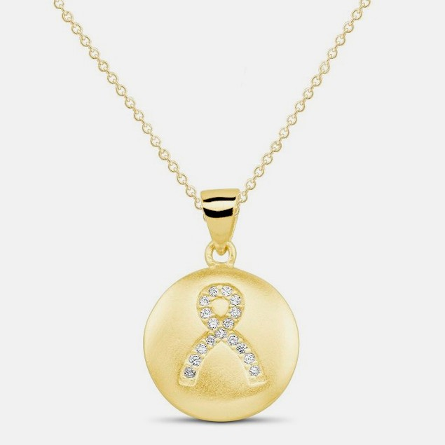 18kt Yellow Gold Plated Ribbon Pendant