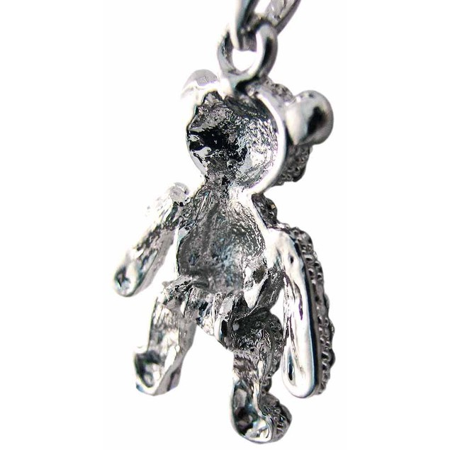 Rhinestone Encrusted Teddy Bear Pendant / Necklace Womens Pendant Necklaces