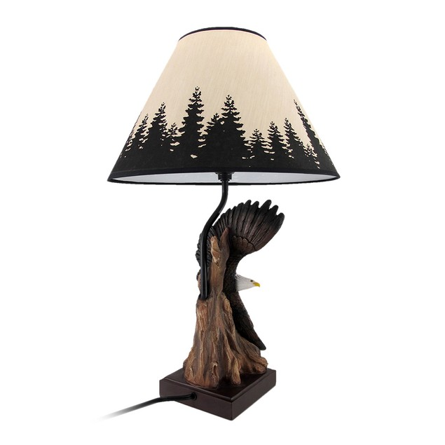 Soaring Bald Eagle Sculptural Table Lamp Table Lamps