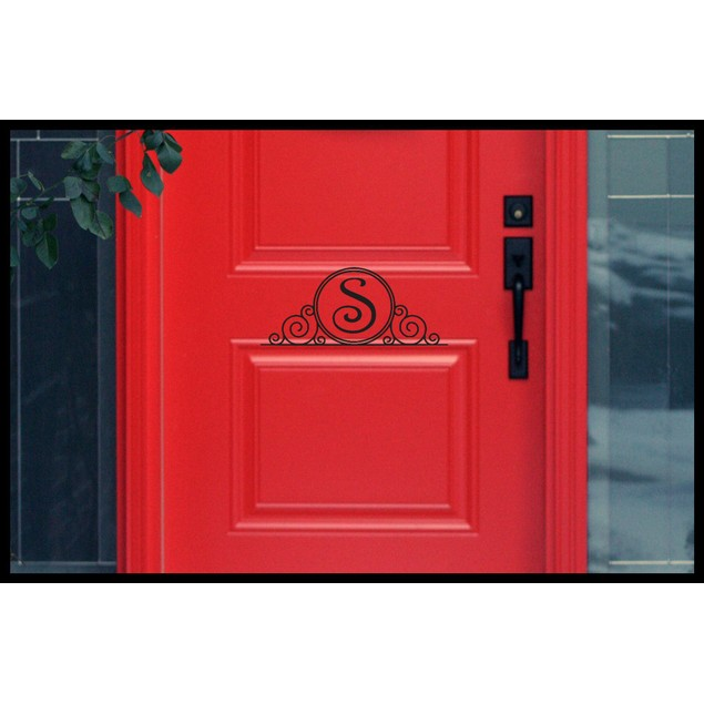 Personalized Initial Door Decal 5