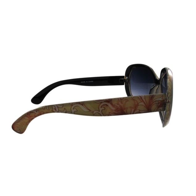 Green And Brown Floral Print Ladies Sunglasses Womens Sunglasses