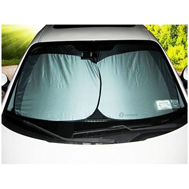 Zone Tech 2x Nylon Car Vehicle Windshield Magic Summer Sun Shade Protection
