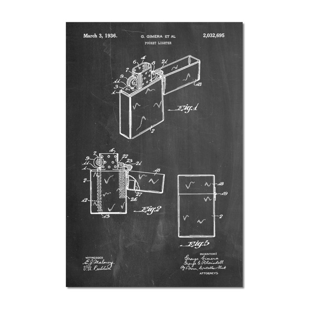 Lighter Patent Poster