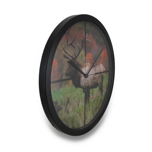 Autumn Elk In Scope Cross Hairs Hd Elk Image Wall Clocks