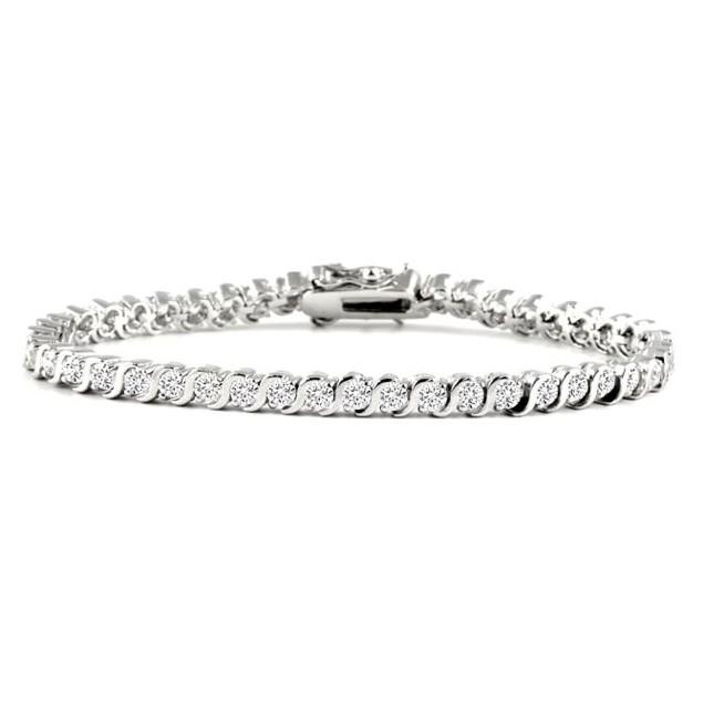Swirl Cubic Zirconia Tennis Bracelet