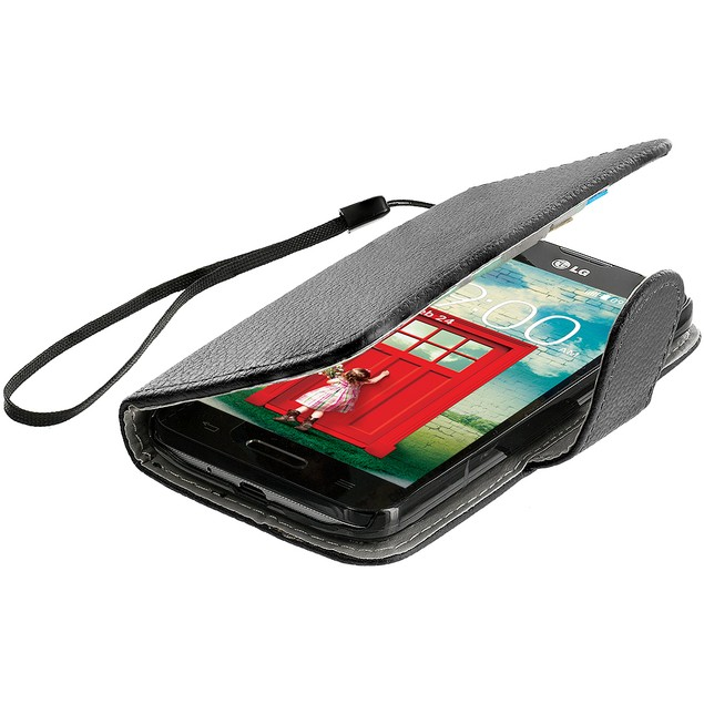 LG Optimus L70 Wallet Pouch Case Cover with Slots