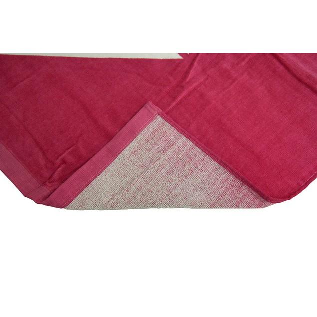 Bright Pink Roxy Cotton Velour Beach Towel 28 X 58 Beach Towels
