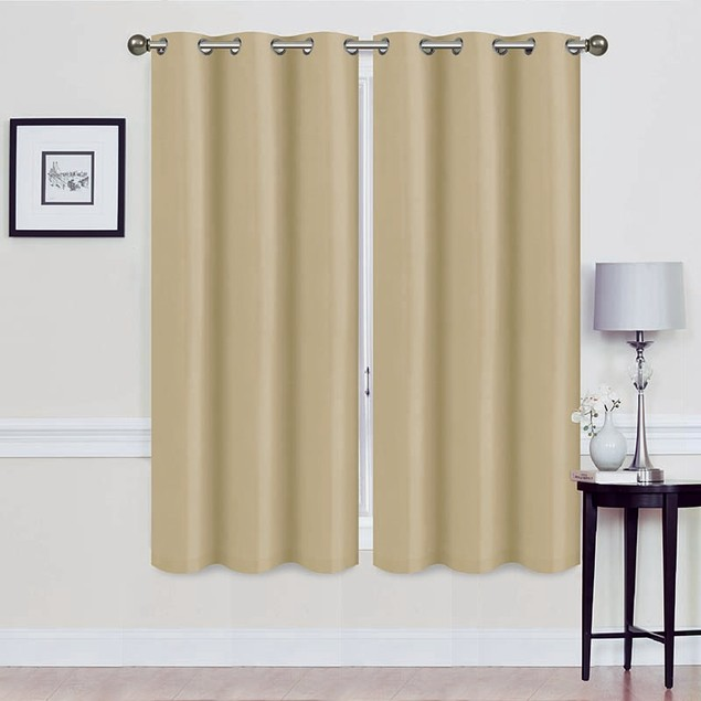 Foam Backed Blackout Curtain Panel - Set of Two