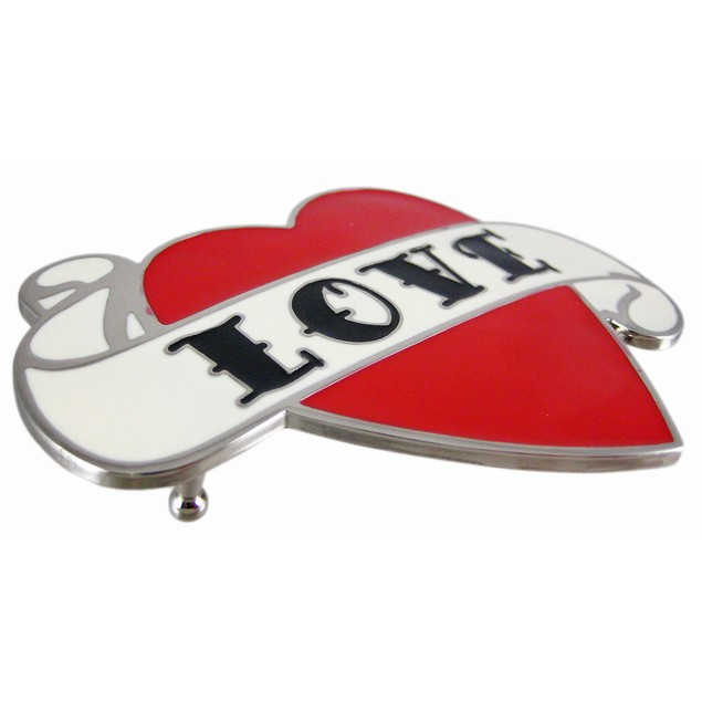 Tattoo Style Love Heart Enamel Belt Buckle Mens Belt Buckles