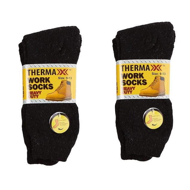 6-Pack Thermaxxx Men's Heavy Duty Work Boot Socks