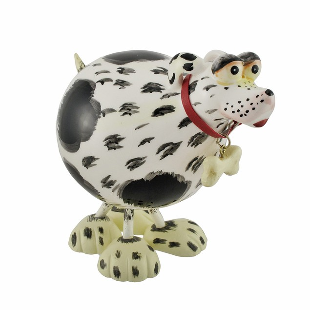 Dog Lover All Ceramic Bobbling Dog Statues